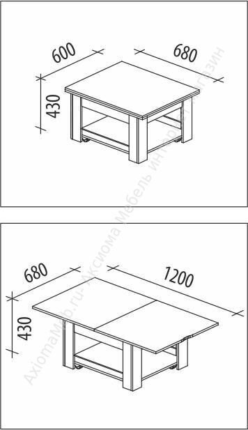 Стол трансформер Агат 21 схема