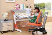 письменный стол Сохо клен с оранж вставками Comf-pro