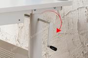 Легкая регулировка задней панели стола