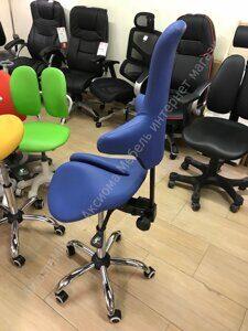 стул седло EzDuo Back  blue