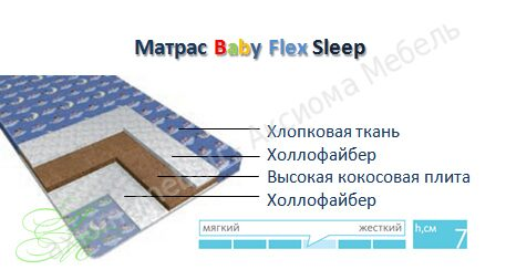 Baby Flex Sleep матрас Аскона Бэби Флекс Слип